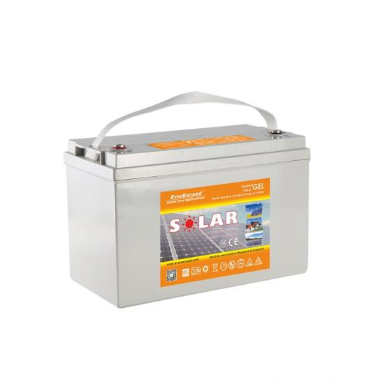 Deep cycle solar gel battery