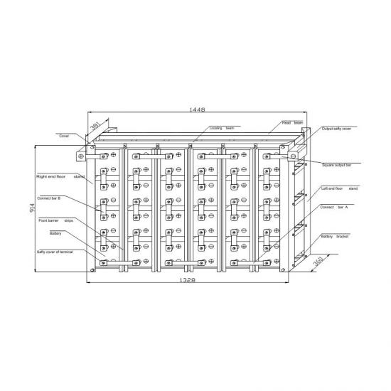 MR MAX 48V series standard battery rack drawings -EverExceed