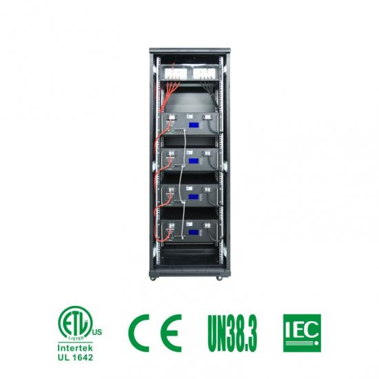 Rack-mounted lithium battery