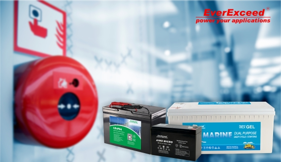 Powering Alarms and Security Systems with backup batteries