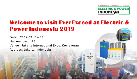 Welcome to visit EverExceed at Electric & Power Indonesia 2019