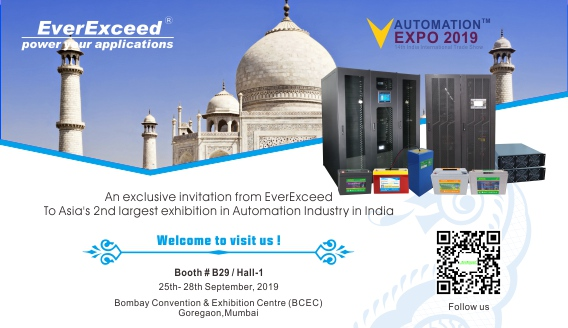 Welcome to visit EverExceed at Automation Expo India -2019
