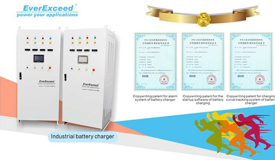 Prestigious Patent for Industrial Battery Charger