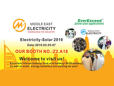 Welcome to visit EverExceed at Middle East Electricity - Solar 2019