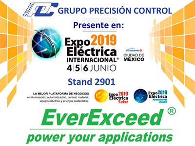 Welcome to visit EverExceed at Mexico International Electrical Expo -2019